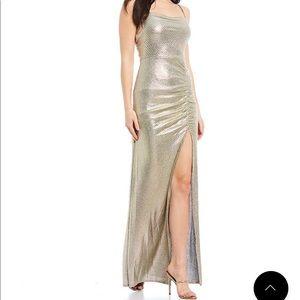 Spaghetti Strap Side Slit Long Dress